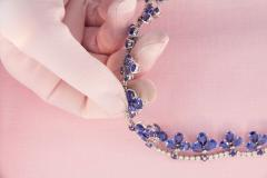 Ella Gafter Ella Gafter Blue Ceylon Sapphire Diamond Flower Necklace and Earrings Set - 1160733