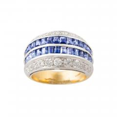 Ella Gafter Ella Gafter Blue Sapphire and Diamond Cocktail Ring - 1097322