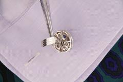 Ella Gafter Ella Gafter Blue Sapphire and Diamond Cufflinks White Gold - 1029197