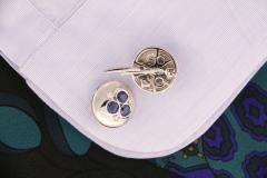 Ella Gafter Ella Gafter Blue Sapphire and Diamond Cufflinks White Gold - 1029198