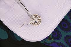 Ella Gafter Ella Gafter Blue Sapphire and Diamond Cufflinks White Gold - 1029199