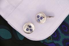 Ella Gafter Ella Gafter Blue Sapphire and Diamond Cufflinks White Gold - 1029200