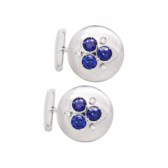 Ella Gafter Ella Gafter Blue Sapphire and Diamond Cufflinks White Gold - 1029412