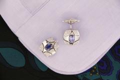 Ella Gafter Ella Gafter Blue Sapphire and Diamond Cufflinks White Gold - 1030102