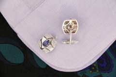 Ella Gafter Ella Gafter Blue Sapphire and Diamond Cufflinks White Gold - 1030103