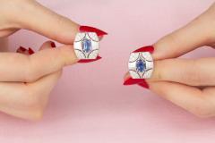Ella Gafter Ella Gafter Blue Sapphire and Diamond Cufflinks White Gold - 1030105