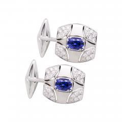 Ella Gafter Ella Gafter Blue Sapphire and Diamond Cufflinks White Gold - 1030193