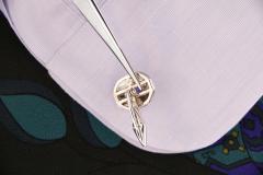 Ella Gafter Ella Gafter Blue Sapphire and Diamond Cufflinks White Gold - 1030106