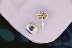 Ella Gafter Ella Gafter Blue Sapphire and Diamond Cufflinks White Gold - 1030109