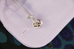 Ella Gafter Ella Gafter Blue Sapphire and Diamond Cufflinks White Gold - 1030115