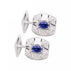 Ella Gafter Ella Gafter Blue Sapphire and Diamond Cufflinks White Gold - 1030194