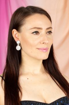 Ella Gafter Ella Gafter Diamond Earrings Clip On - 1176114