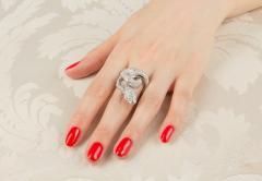 Ella Gafter Ella Gafter Diamond White Gold Snake Ring - 1139606