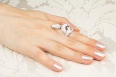 Ella Gafter Ella Gafter Diamond White Gold Snake Ring - 1139609