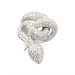 Ella Gafter Ella Gafter Diamond White Gold Snake Ring - 1139830