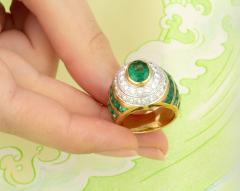 Ella Gafter Ella Gafter Emerald Diamond Dome Cocktail Ring - 1097711