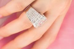 Ella Gafter Ella Gafter Gold and Diamond Cocktail Ring - 1097300