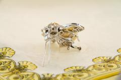 Ella Gafter Ella Gafter Golden Pearl Diamonds Bee Brooch Pin with Yellow Sapphire - 1042554