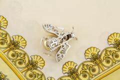 Ella Gafter Ella Gafter Golden Pearl Fancy Color Diamonds Bee Brooch Pin - 1042484