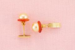 Ella Gafter Ella Gafter Golden Pearl Ladies Cufflinks - 1030055