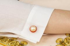 Ella Gafter Ella Gafter Golden Pearl Ladies Cufflinks - 1030058