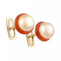 Ella Gafter Ella Gafter Golden Pearl Ladies Cufflinks - 1030186