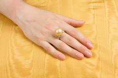 Ella Gafter Ella Gafter Golden Pearl Yellow Sapphire Diamond Cocktail Ring - 1098839