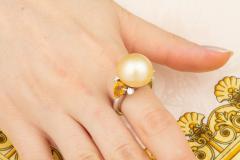 Ella Gafter Ella Gafter Golden Pearl Yellow Sapphire Diamond Cocktail Ring - 1098842