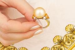 Ella Gafter Ella Gafter Golden Pearl Yellow Sapphire Diamond Cocktail Ring - 1098845