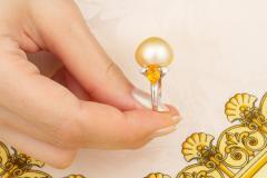 Ella Gafter Ella Gafter Golden Pearl Yellow Sapphire Diamond Cocktail Ring - 1098846