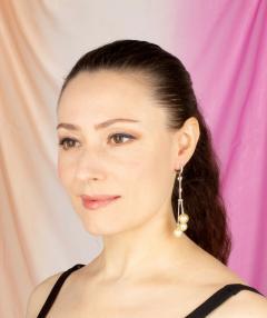 Ella Gafter Ella Gafter Golden Pearl and Diamond Drop Earrings - 1172313