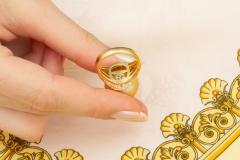 Ella Gafter Ella Gafter Golden Pearl and Diamond Ring Onyx - 1100078