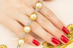 Ella Gafter Ella Gafter Golden South Sea Pearl Diamond Bracelet - 1009775