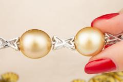 Ella Gafter Ella Gafter Golden South Sea Pearl Diamond Bracelet - 1009776