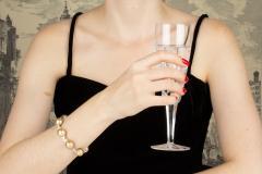 Ella Gafter Ella Gafter Golden South Sea Pearl Diamond Bracelet - 1009778