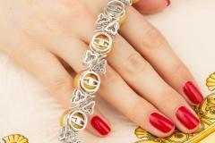 Ella Gafter Ella Gafter Golden South Sea Pearl and Diamond Bracelet - 1009674