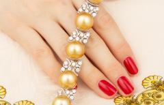 Ella Gafter Ella Gafter Golden South Sea Pearl and Diamond Bracelet - 1009675