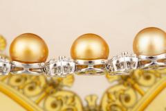 Ella Gafter Ella Gafter Golden South Sea Pearl and Diamond Bracelet - 1009676
