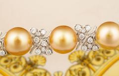 Ella Gafter Ella Gafter Golden South Sea Pearl and Diamond Bracelet - 1009678