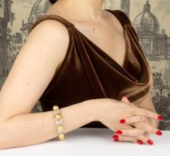 Ella Gafter Ella Gafter Golden South Sea Pearl and Diamond Bracelet - 1009681