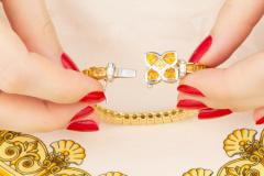 Ella Gafter Ella Gafter Golden Yellow Sapphire Diamond Line Color Bracelet - 1117861