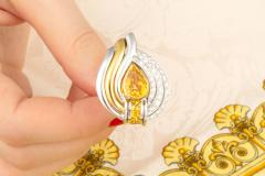 Ella Gafter Ella Gafter Golden Yellow Sapphire and Diamond Clip On Earrings - 1142226