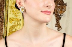Ella Gafter Ella Gafter Golden Yellow Sapphire and Diamond Clip On Earrings - 1142227