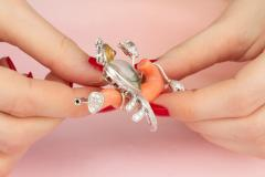 Ella Gafter Ella Gafter Love Bird Diamond Brooch Pin - 1051600