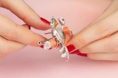 Ella Gafter Ella Gafter Love Bird Diamond Brooch Pin - 1051601