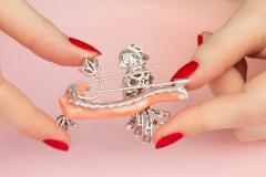 Ella Gafter Ella Gafter Love Bird Diamond Brooch Pin - 1051602