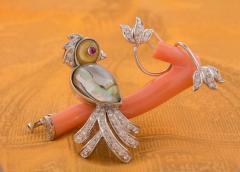 Ella Gafter Ella Gafter Love Bird Diamond Brooch Pin - 1051604