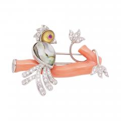 Ella Gafter Ella Gafter Love Bird Diamond Brooch Pin - 1056001