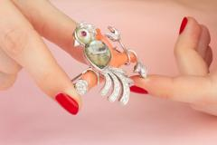 Ella Gafter Ella Gafter Love Bird Diamond Brooch Pin - 1051621