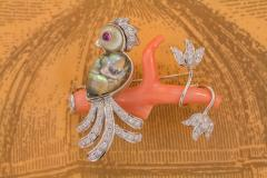 Ella Gafter Ella Gafter Love Bird Diamond Brooch Pin - 1051629